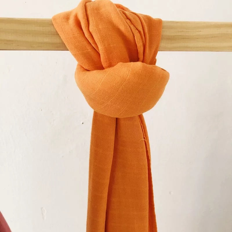 Orange Bamboo Swaddle