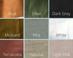 Pure French Linen - Terracotta Pink 280cm