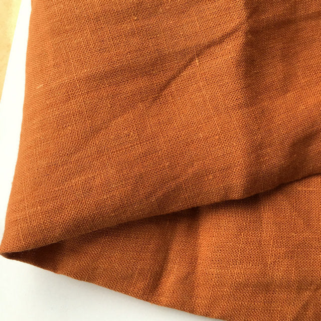 Pure French Linen - Rust 280cm