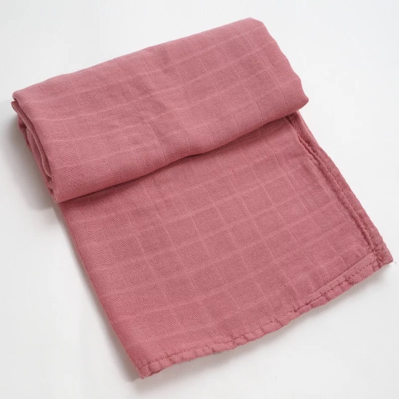Dusty Rose Bamboo Swaddle