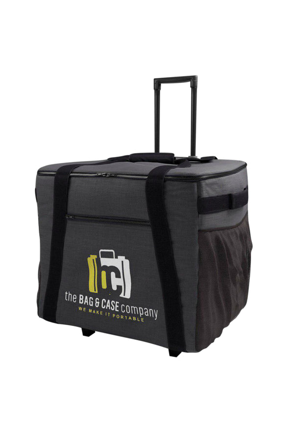 Printer Case Rolling Bag w/ Recessed Wheels and Handle