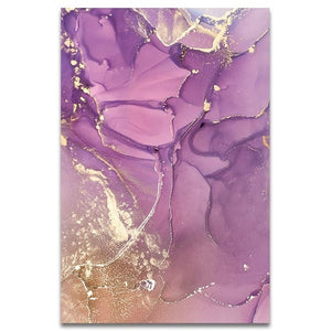 Abstract Ink petal Painting
