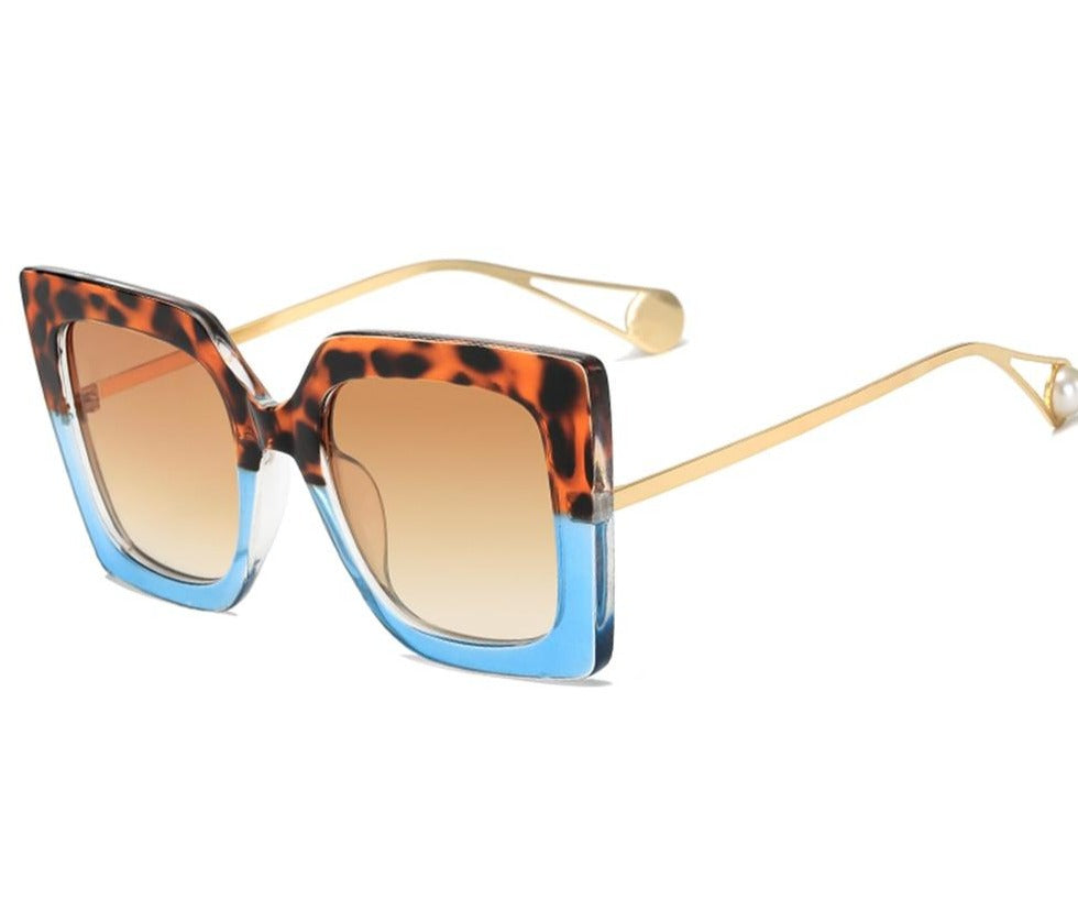 Oversized Square Pearl SunGlasses