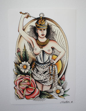 """Hit Me!"" - Anton Aselbor - Beyond Tradition -Tattoo print"