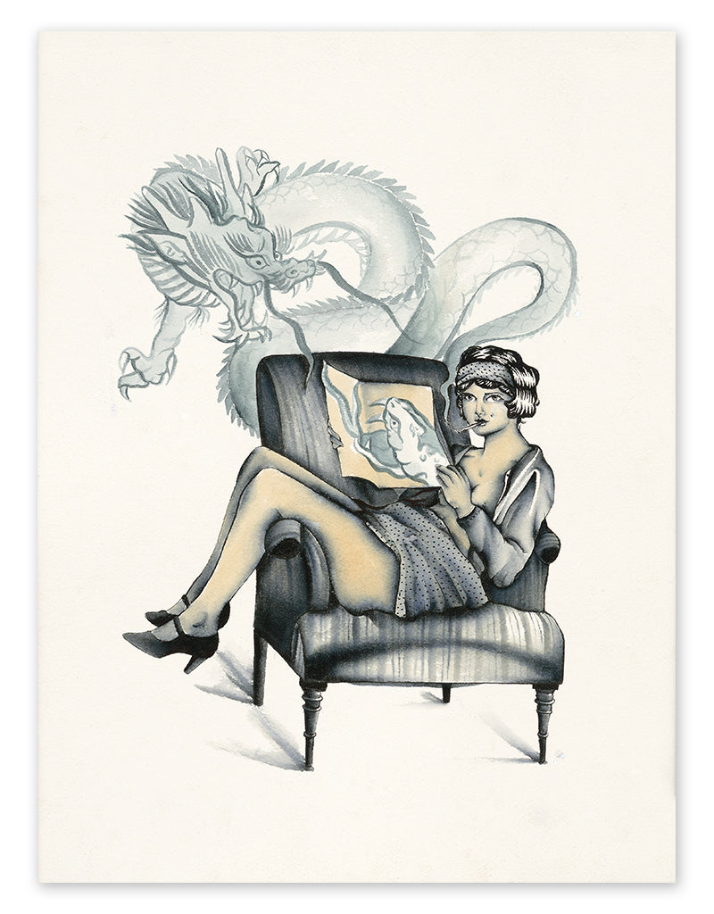 """Bad Habits"" - Pia Alexandra - Fine Art Tattoo Print - Beyond Tradition -Tattoo print"