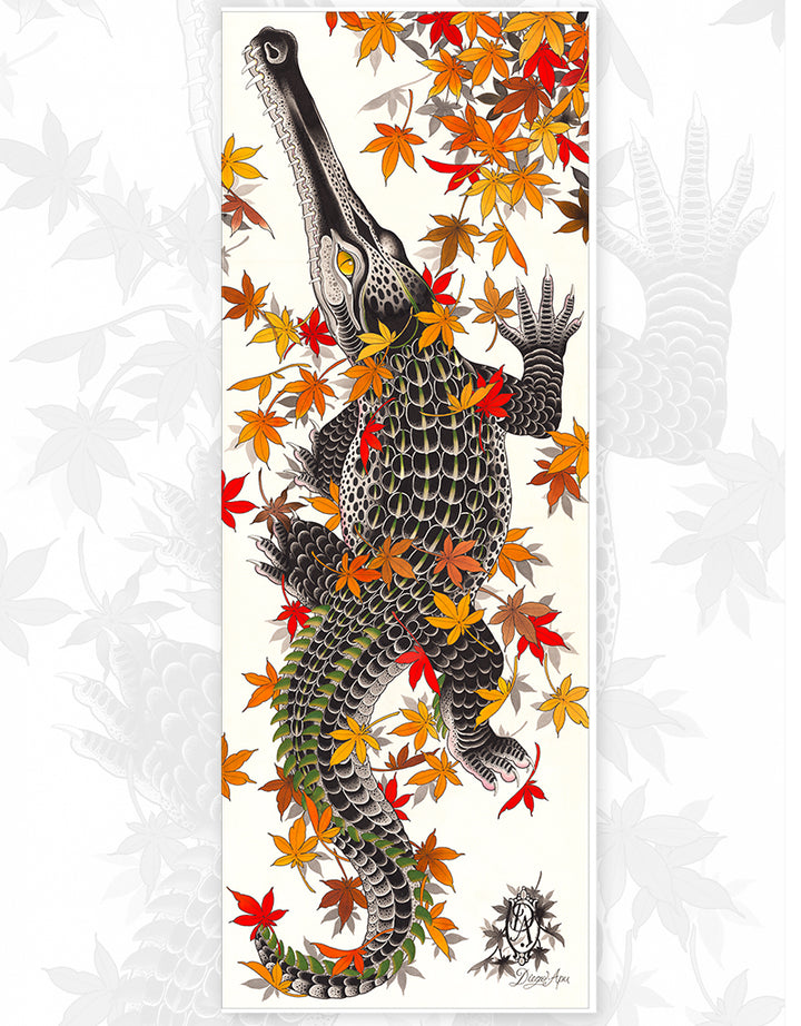 """Crocodile"" - Diego Apu - Fine Art Tattoo Print - Beyond Tradition -Tattoo print"