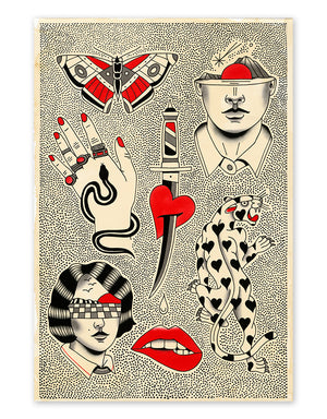 """Dots"" - Patryk Hilton - LIMITED - Fine Art Tattoo Print - Beyond Tradition -Tattoo print"