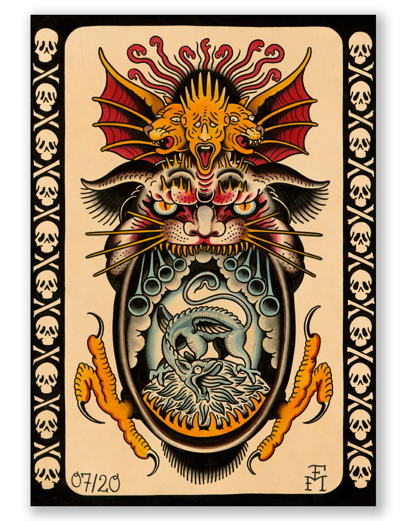 """Demon 2020"" - Falk Malisch - Tattoo Art Print"