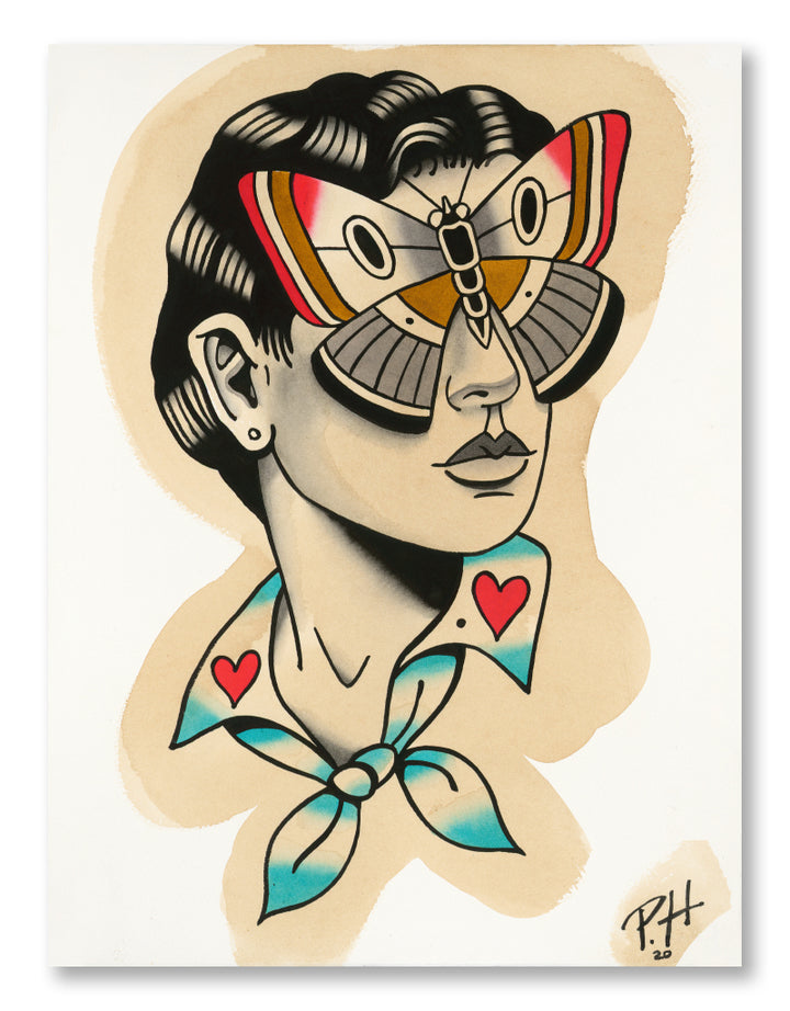 """Blindfolded"" - Patryk Hilton - Tattoo Art Print"