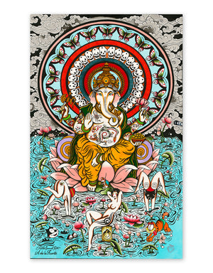 """Ganesha"" - Adrian de la Fuente - Tattoo Art Print - Beyond Tradition -Tattoo print"