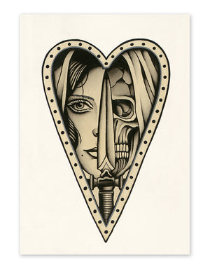 """Love and Death"" - Lars Becker - Fine Art Tattoo Print - Beyond Tradition -Tattoo print"