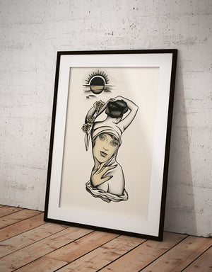 """Muse"" - Lars Becker - Fine Art Tattoo Print - Beyond Tradition -Tattoo print"