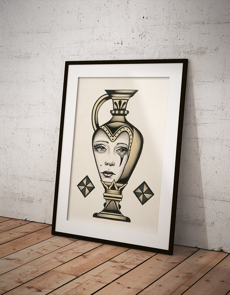 """Vase"" - Lars Becker - Fine Art Tattoo Print - Beyond Tradition -Tattoo print"