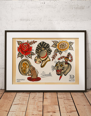 """Classic Flash"" - Daniel Lacalle - Tattoo Art Print"