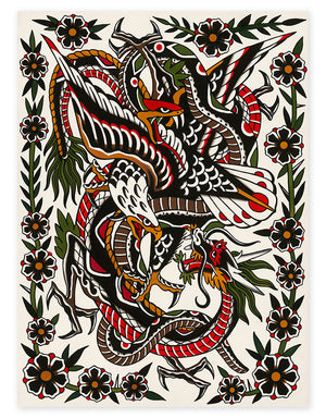 """Battle Royal"" - Will Walas - Beyond Tradition -Tattoo print"