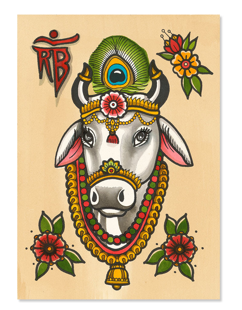 """Holy Cow"" -  Ronja Block - Beyond Tradition -Tattoo print"