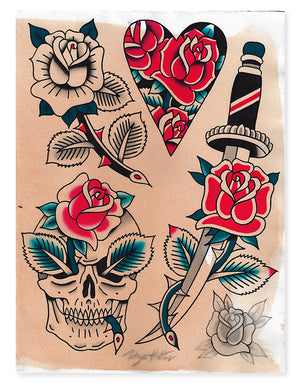 Roses - Patryk Hilton - Beyond Tradition -Tattoo print