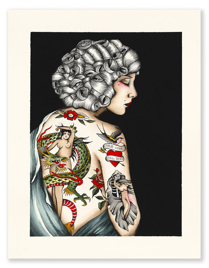 True Love Till Death - Pia Alexandra - Beyond Tradition -Tattoo print