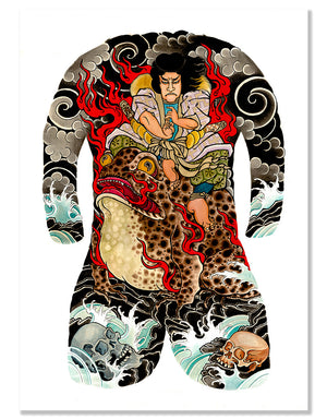 Jiraiya - Leo Barada - Beyond Tradition -Tattoo print
