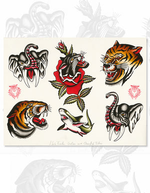 """Classic Flash - No. 3"" - Adrian de la Fuente - Beyond Tradition -Tattoo print"