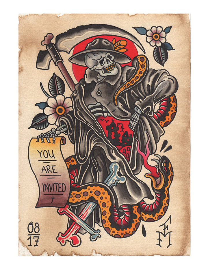 """Reaper"" - Falk Malisch - Beyond Tradition -Tattoo print"