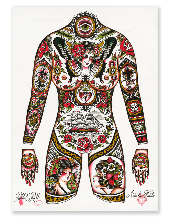 """Full Front Concept"" - Adrian de la Fuente - Beyond Tradition -Tattoo print"