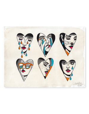Hearts - Patryk Hilton - Beyond Tradition -Tattoo print