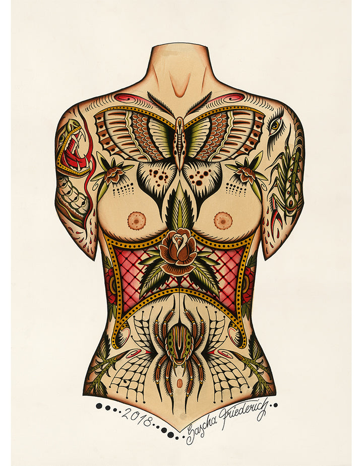 """Frontpiece"" - Sascha Friederich - Beyond Tradition -Tattoo print"