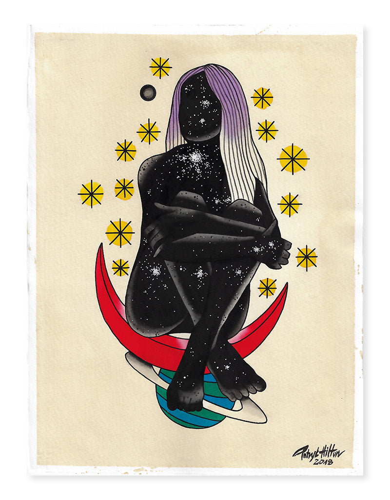 Cosmic Girl - Patryk Hilton - Beyond Tradition -Tattoo print
