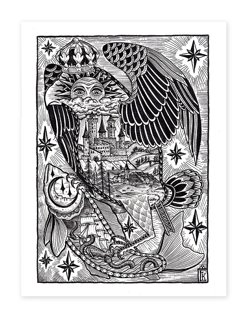 """Insights"" - Erkan Keser - Beyond Tradition -Tattoo print"