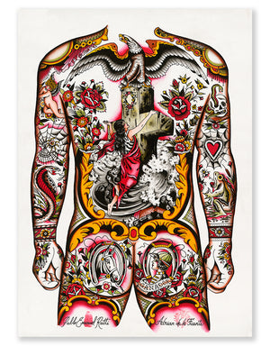 """Full Back Concept"" - Adrian de la Fuente - Beyond Tradition -Tattoo print"