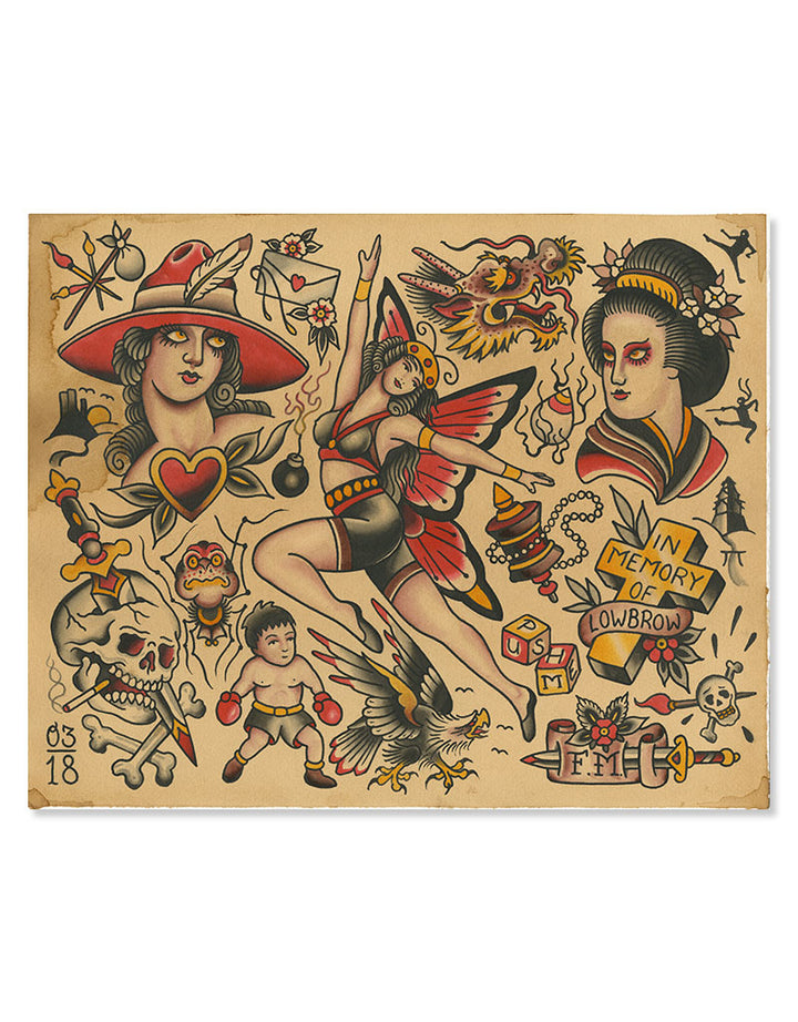 """Memories Flash"" - Falk Malisch - Beyond Tradition -Tattoo print"