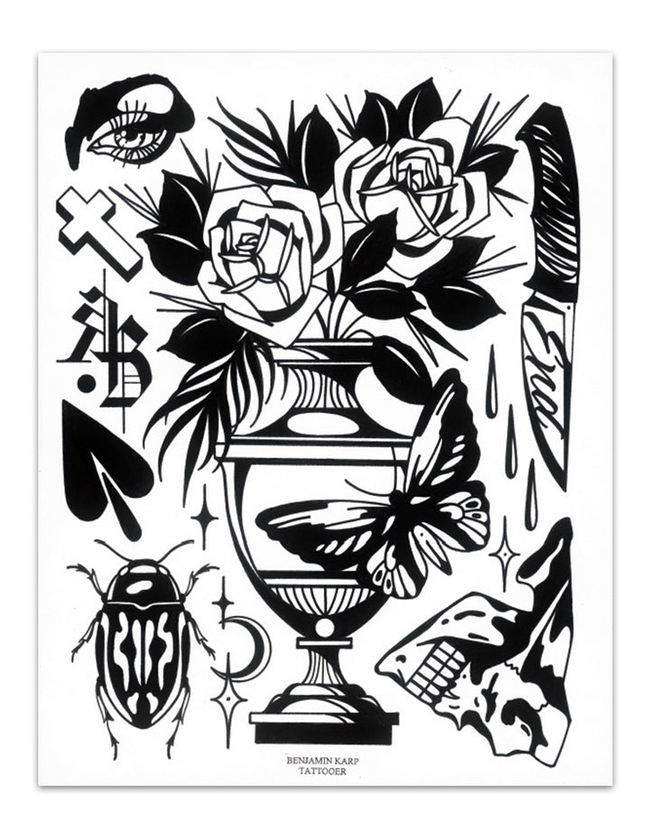 """Black Flash"" - Benjamin Karp - Beyond Tradition -Tattoo print"