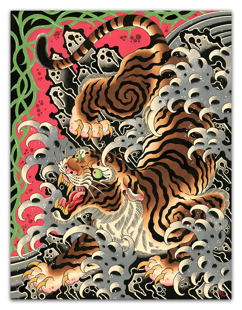 Big Bad Waves - Flo Kraemer - Beyond Tradition -Tattoo print
