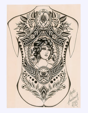 """Backpiece"" - Sascha Friederich - Beyond Tradition -Tattoo print"