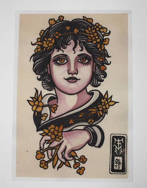 """Classy Girl"" - Falk Malisch - Beyond Tradition -Tattoo print"