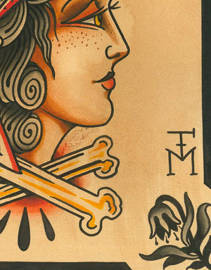 """Eagle Girl"" - Falk Malisch - Beyond Tradition -Tattoo print"