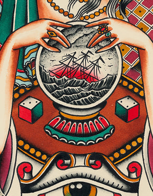 """Fortuneteller"" - Vitaliy Petrykevich @blue_train69 - Beyond Tradition -Tattoo print"