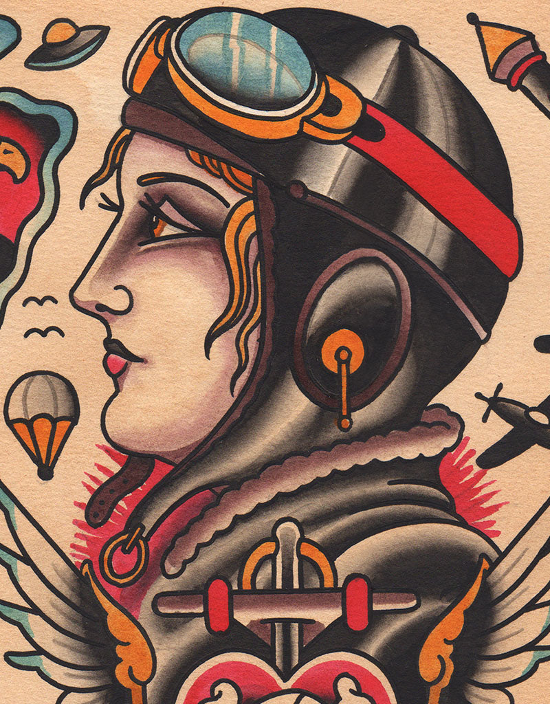 """Pearl Harbor Flash"" - Falk Malisch - Beyond Tradition -Tattoo print"