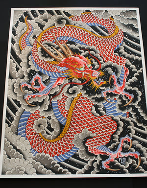 Red Dragon - Flo Kraemer - Beyond Tradition -Tattoo print