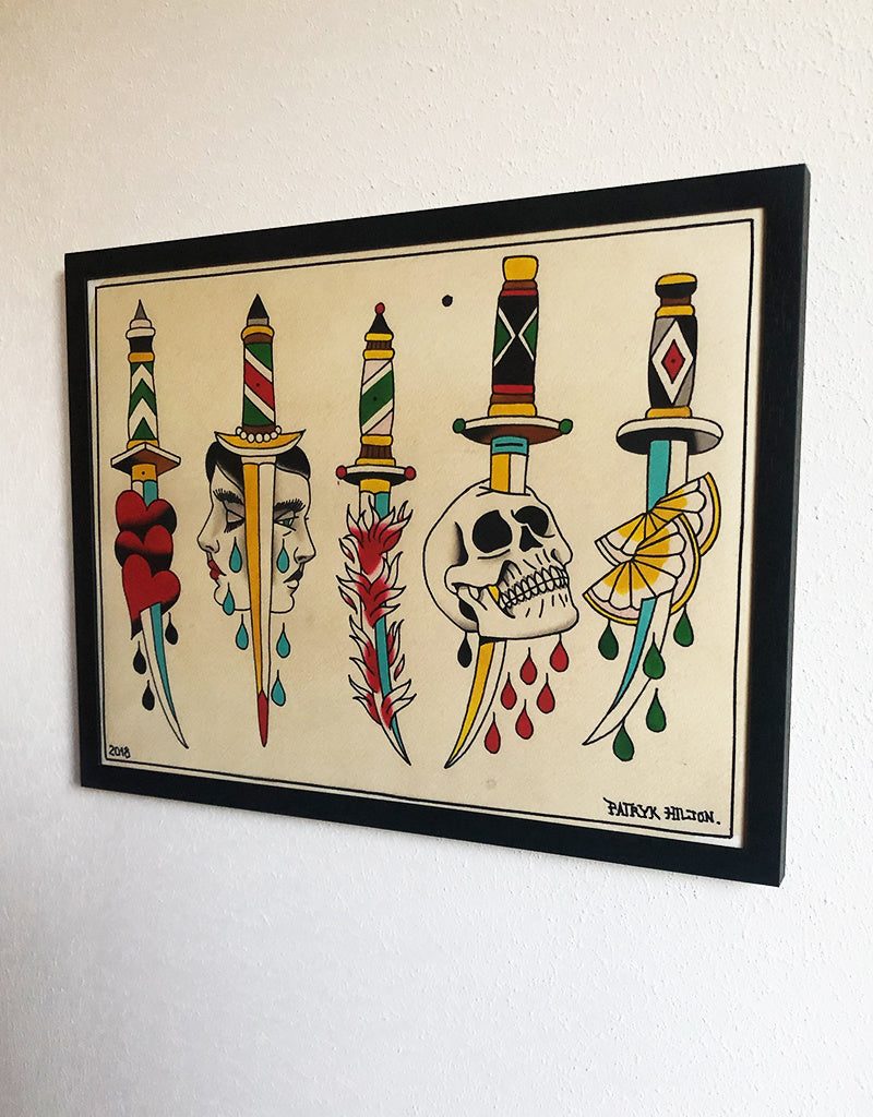 Fresh Daggers - Patryk Hilton - Beyond Tradition -Tattoo print