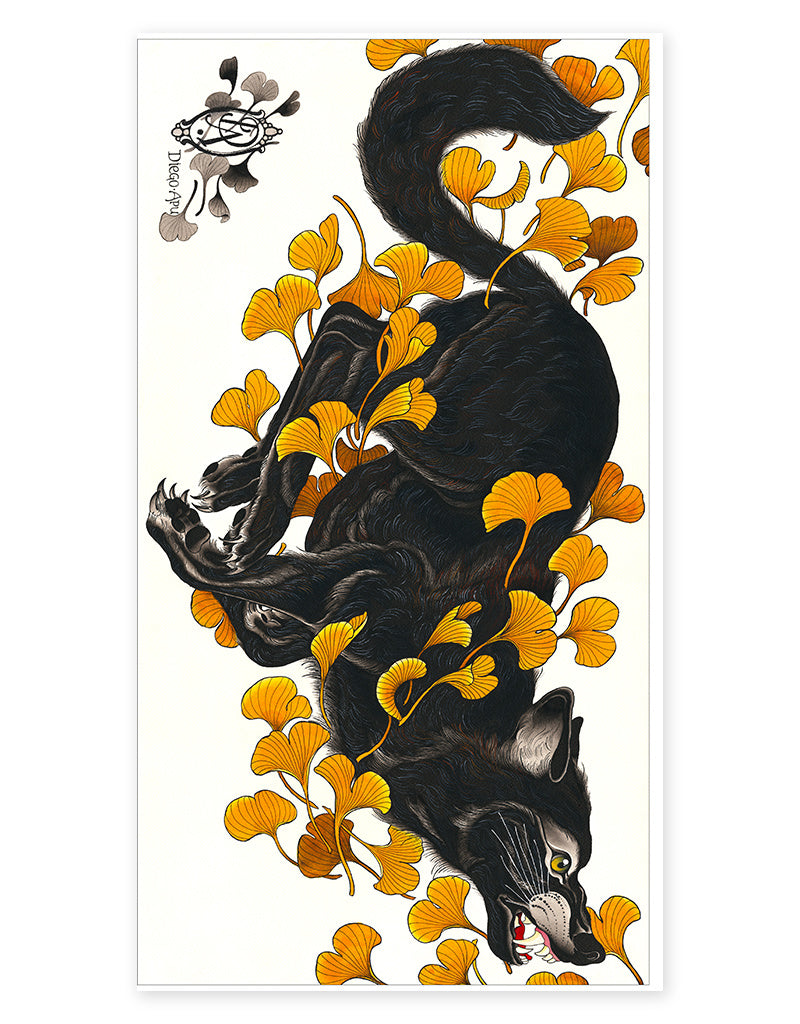 """Wolf"" - Diego Apu - Beyond Tradition -Tattoo print"