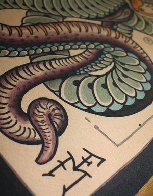 """Cobra"" - Falk Malisch - Beyond Tradition -Tattoo print"