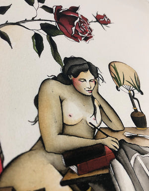 Writing Poems - Pia Alexandra - Beyond Tradition -Tattoo print