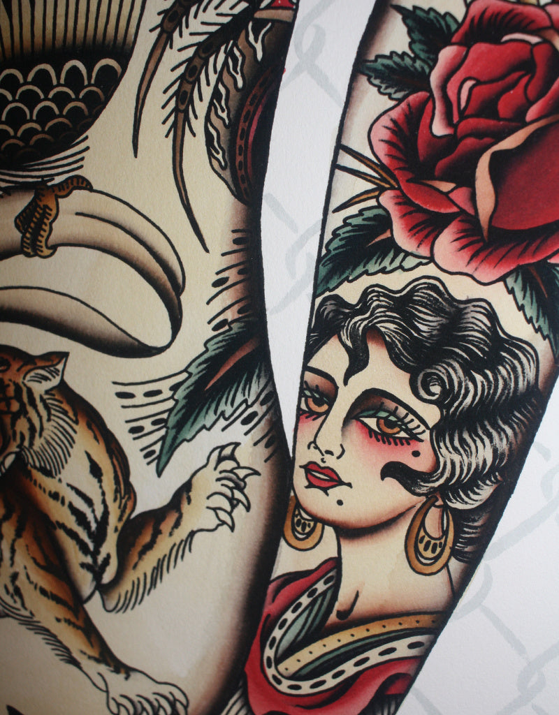 """Frontpiece"" - Anton Aselbor - Beyond Tradition -Tattoo print"