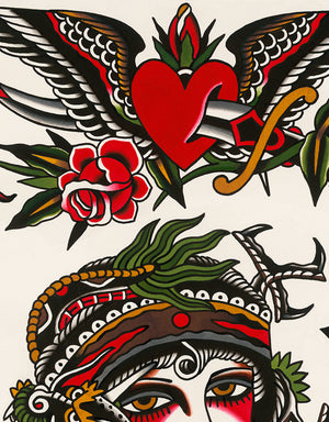 """Grand Flash"" - Will Walas - Beyond Tradition -Tattoo print"
