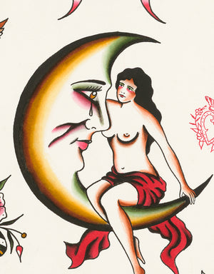 """Classic Flash - No. 4"" - Adrian de la Fuente - Beyond Tradition -Tattoo print"
