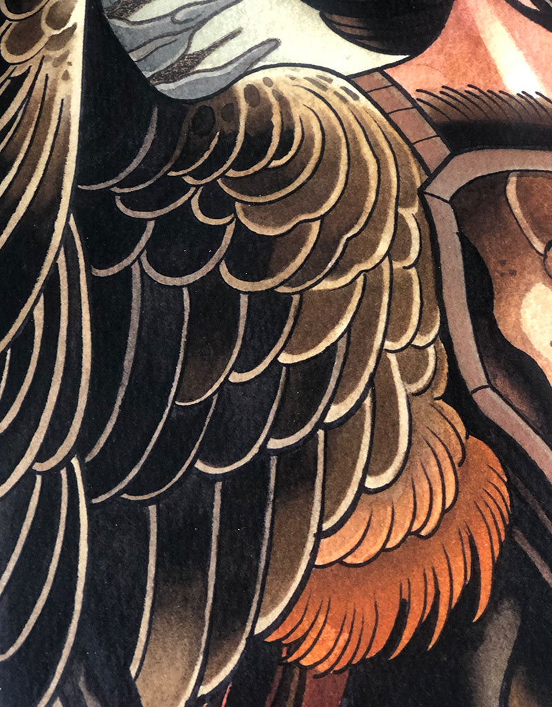 """The Harpy"" - Toni Donaire - Beyond Tradition -Tattoo print"