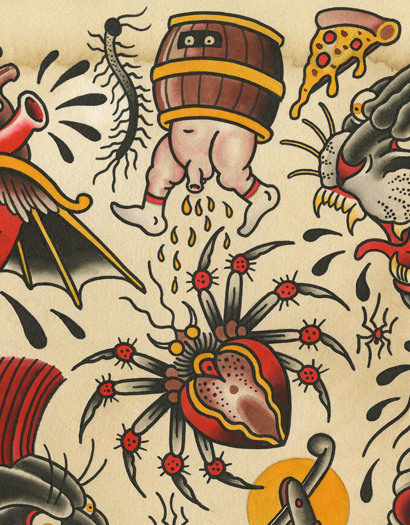 """Panther Flash"" - Falk Malisch - Beyond Tradition -Tattoo print"