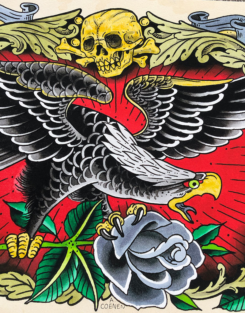 """Eagle"" - Andreas Coenen - Beyond Tradition -Tattoo print"